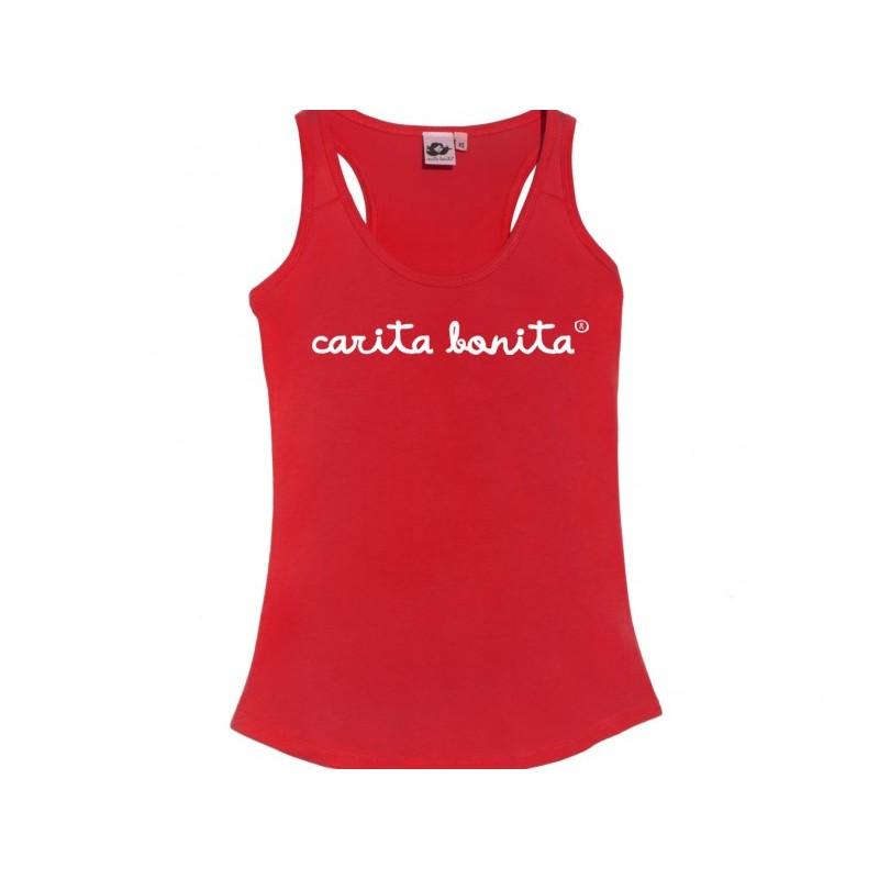 Camiseta tirantes letras de carita bonita blancas - Carita Bonita c9cb9adcec3