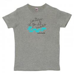 Camiseta para hombre diseño Contigo al fin del mundo