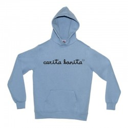 Sudadera diseño letras carita bonita negras