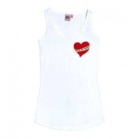 Camiseta tirantes blanca diseño amor de madre