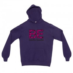 Sudadera morada diseño be carita bonita