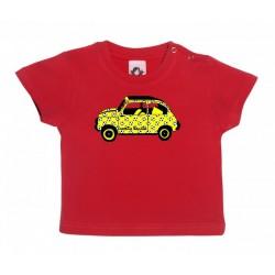 Camiseta de manga corta para bebé diseño el 600 de Carita Bonita con pelotas de fútbol.