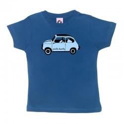 Camiseta manga corta para niños diseño el 600 azulito