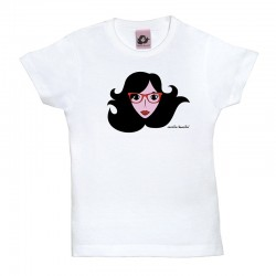 Camiseta manga corta para niños diseño cara con gafas