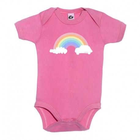Body para bebé fucsia diseño arcoíris