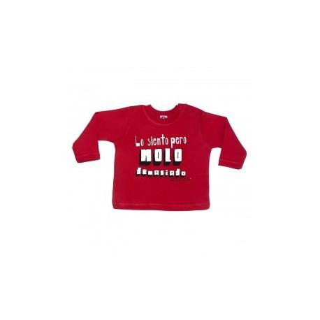 Camiseta manga larga para bebé diseño lo siento pero molo demasiado