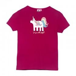 Camiseta manga corta sorbete diseño unicornio