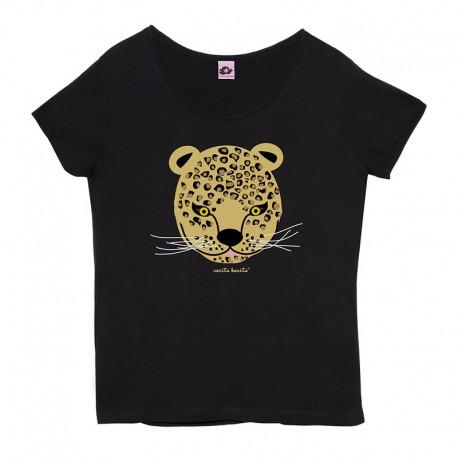 Camiseta manga corta mujer Leopardo