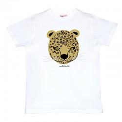 Camiseta manga corta hombre blanca Leopardo