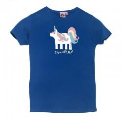Camiseta manga corta azulona diseño unicornio