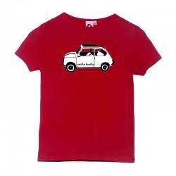 Camiseta manga corta roja con el 600 blanco