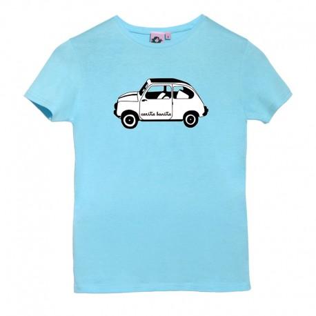 Camiseta manga corta azulita el 600 blanco