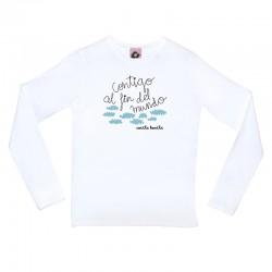 Camiseta manga larga diseño contigo al fin del mundo