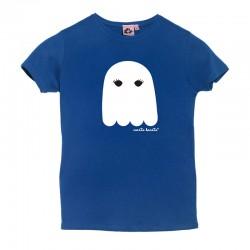 Camiseta manga corta azulona diseño fantasma