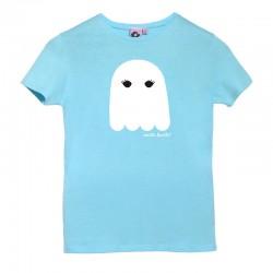 Camiseta manga corta azulita diseño fantasma