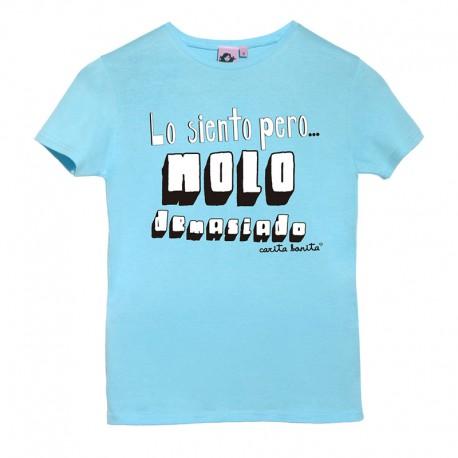 Camiseta manga corta azulita diseño lo siento pero molo demasiado