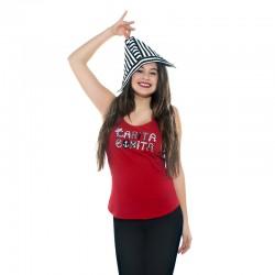 Camiseta tirantes diseño letras marineras