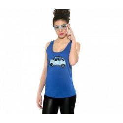Camiseta tirantes con el 600 azulito