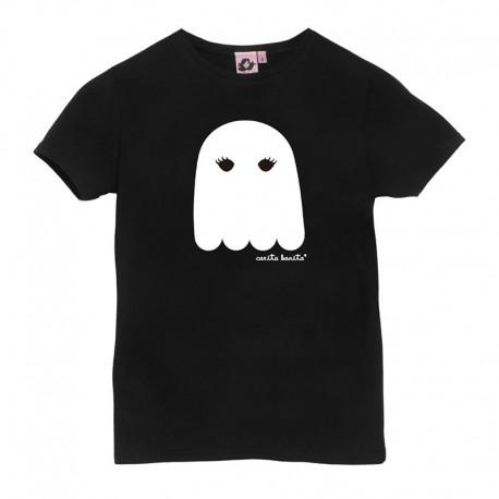 Camiseta manga corta negra con el fantasma