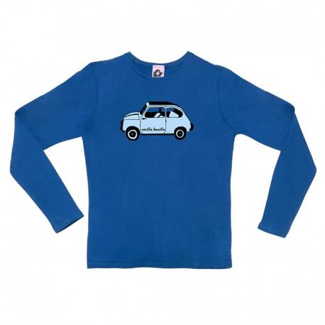 Camiseta manga larga azulona con el 600 azulito