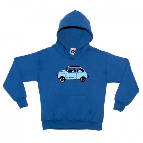 Sudadera para niños gris diseño el 600 azul