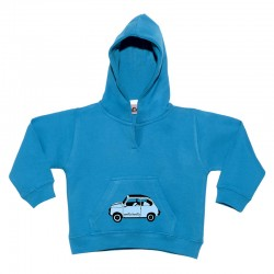 Sudadera para bebé con capucha diseño 600 azulito.