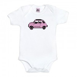 Body para bebé blanco diseño el 600 rosita