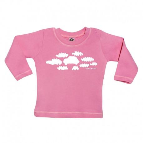 Camiseta manga larga para bebé diseño nubes