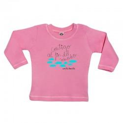 Camiseta manga larga para bebé diseño contigo al fin del mundo