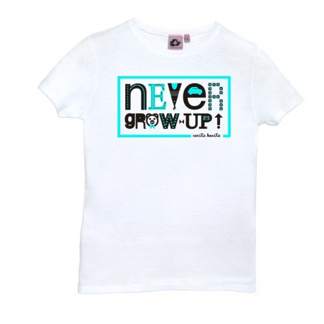 Camiseta manga coarta diseño Never Grow Up