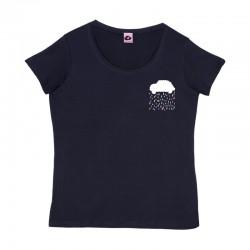 Camiseta cuello amplio y manga corta marino diseño lluvia