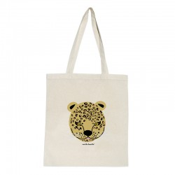Tote bag natural diseño leopardo