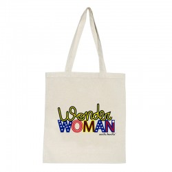 Tote bag natural diseño Wonder Woman