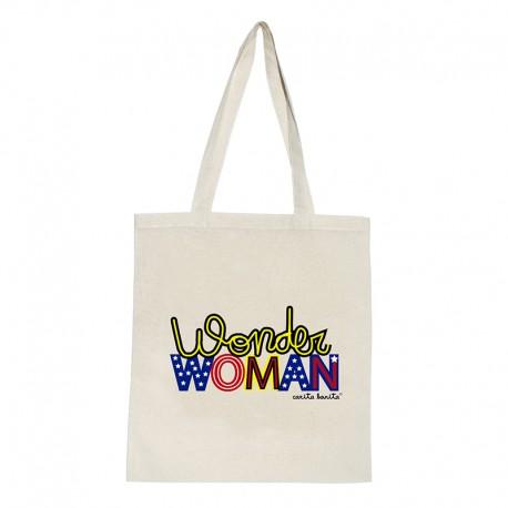 Tote bag natural diseño Wonder Woman