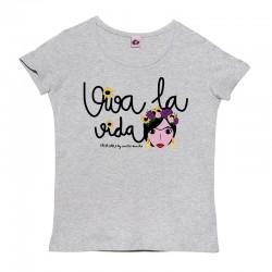 Camiseta manga corta mujer diseño Frida