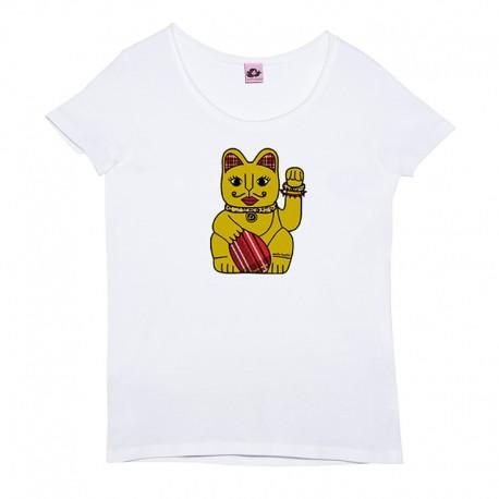 Camiseta manga corta negra diseño letras arcoíris