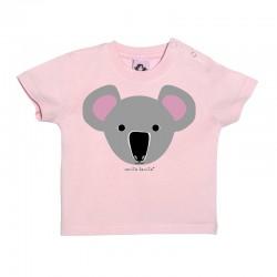 Camiseta manga corta rosa para bebé diseño Koala