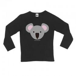 Sudadera para niños diseño negra diseño Koala