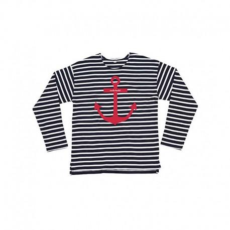 Camiseta manga larga rayas diseño ancla