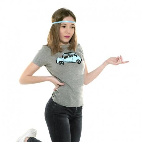 Camiseta manga corta gris con el 600 azulito