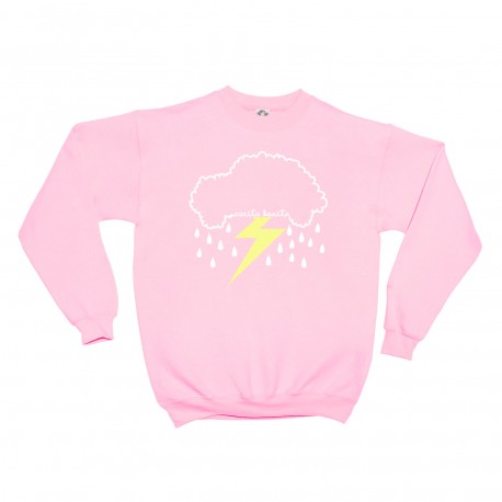 Sudadera rosa infantil Coche Nube con Rayito